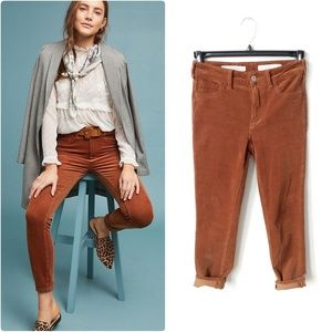 Pilcro corduroy high rise skinny jeans